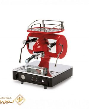 اسپرسوساز آستوریا تک گروپ نيمه اتوماتيک مدل Sibilla قرمز