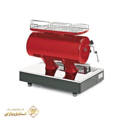 اسپرسوساز آستوریا دو گروپ نيمه اتوماتيک مدل Sibilla قرمز