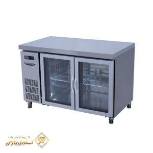 یخچال میز کار در شیشه ایی لاسله مدل Lassele LGRT 2B 1200