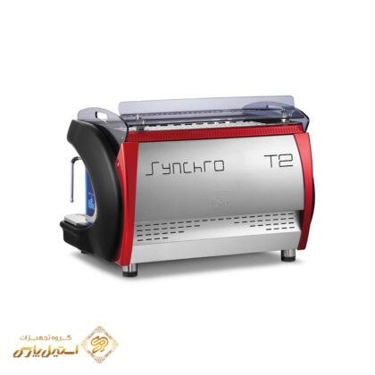 اسپرسوساز رویال دوگروپ اتوماتیک مدل Royal Synchro T2 با قابلیت Tall Cup و صفحه نمایش با LED قرمز مشکی