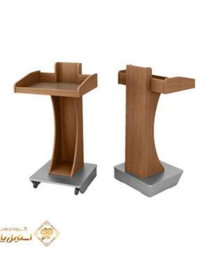 میز تریبون سخنرانی سالن اجتماعات چوبی مدل 3000